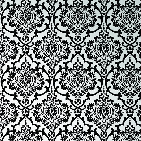 Papel de parede floral preto branco nikal nk53605 comprar - Papel de pared blanco y negro ...
